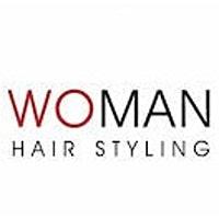 woman hairstyling logo